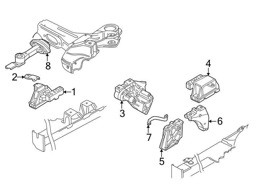 Engine Trans Mounting For 2006 Volkswagen Golf Gl 2 0l