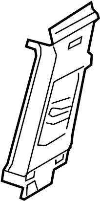 5gm867243e82v Volkswagen Door Pillar Post Trim Set Left